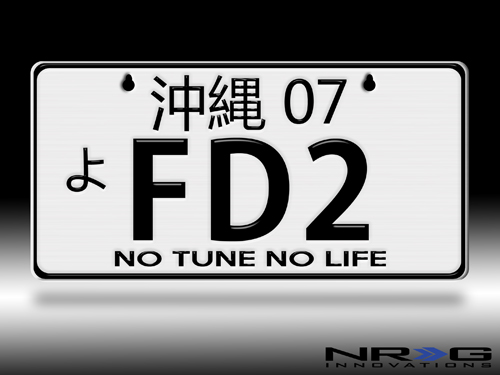 JDM Style, Universal Suction-Cup Fit, AE86 NRG Innovations MP-001-AE86 Aluminum Mini License Plate